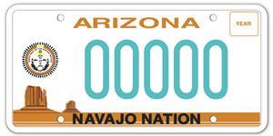 Navajo Nation License Plate
