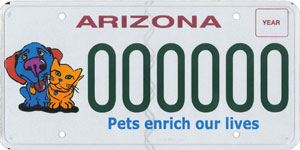 Pet Friendly/Spay and Neuter License Plate