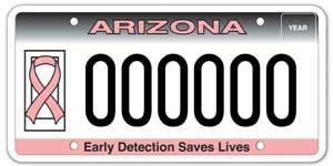 Pink Ribbon/Cancer Awareness License Plate