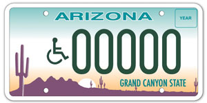 Standard Arizona Disability Plate