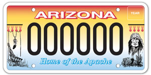 San Carlos Apache Tribe License Plate