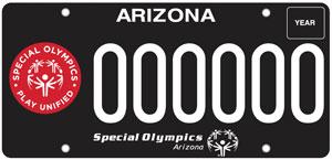 Special Olympics Arizona License Plate