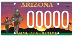 Southwest PGA (Golf) License Plate