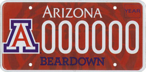 University of Arizona - UofA License Plate