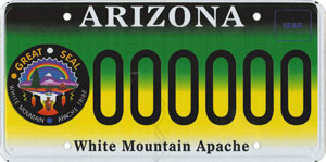 White Mountain Apache Tribe License Plate