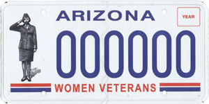 Women Veterans License Plate