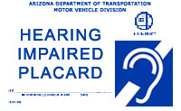 Hearing Impaired Placard