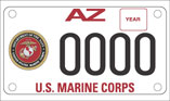 U.S. Marine Corp Motorcycle License Plate