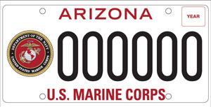 U.S. Marine Corps License Plate