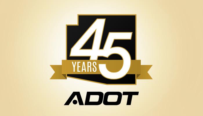 ADOT 45th anniversary logo