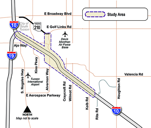 I-10 / SR 210 Project Map