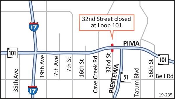 Pima Freeway Map Nov 15 - 18