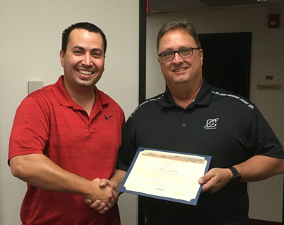 Partnering Spirit Award being presented to Marty Soulard - Nov. 13, 2019