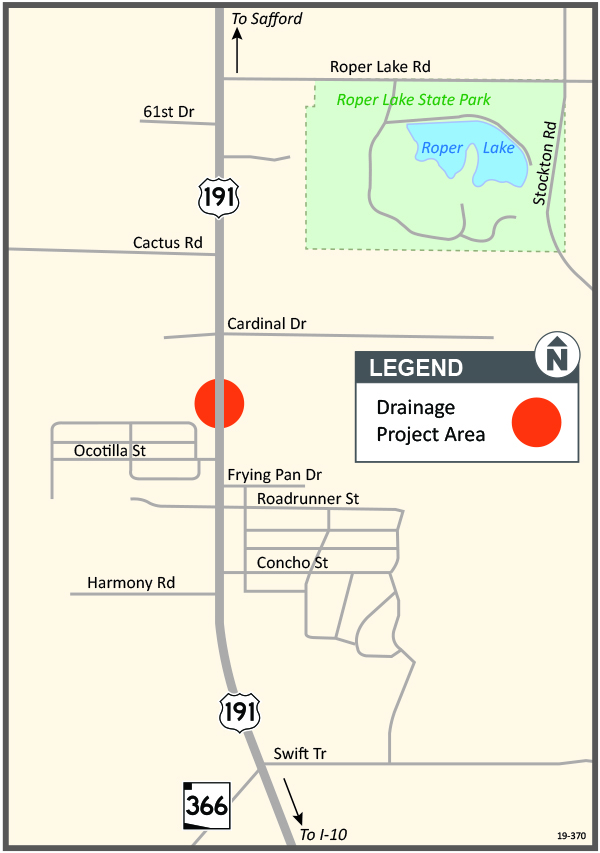 US 191 Drainage Project Area Map