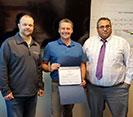 Kyle Rinderknecht accepting Spirit Award
