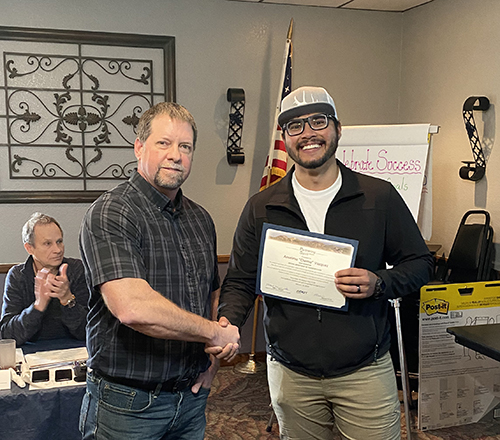 Anselmo Vazquez accepting Spirit Award