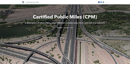 Certified Public Miles StoryMap Screenshot