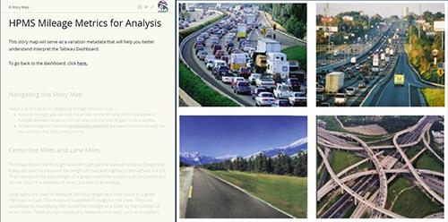 HPMS Milage StoryMap Screenshot