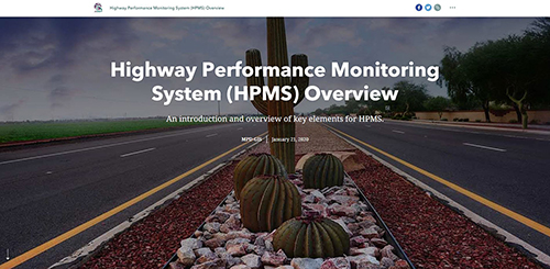 HPMS Overview StoryMap Screenshot