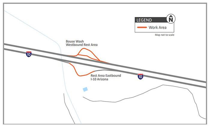 I-10 Bouse Wash Map