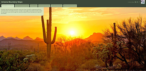 Arizona Boundary Maps StoryMap Screenshot