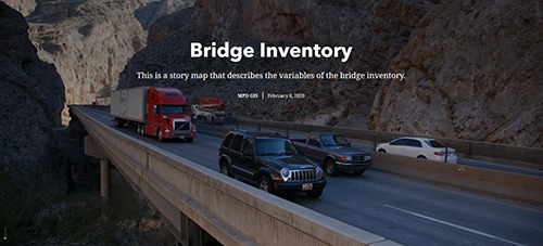 Bridge Inventory StoryMap Screenshot