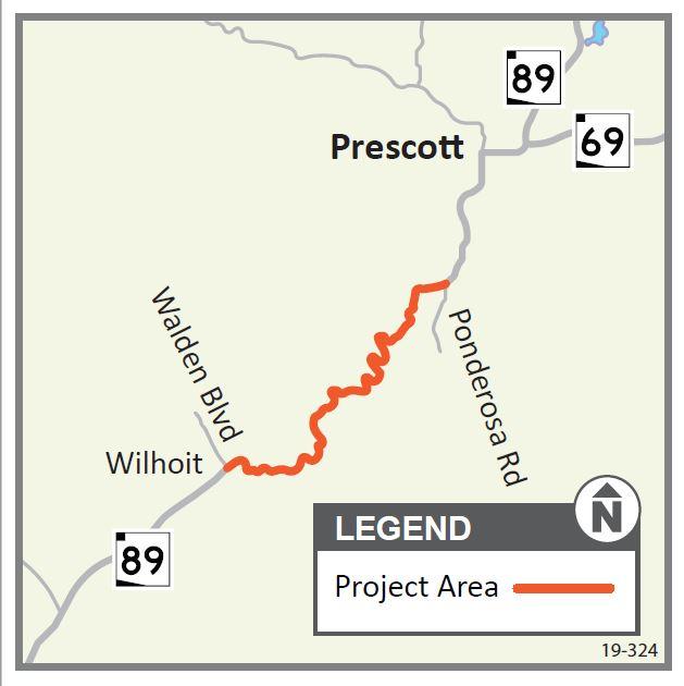 SR89 Walden Blvd Ponderosa Park Map