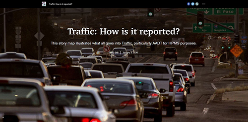 Traffic: How is it reported? StoryMap Screenshot