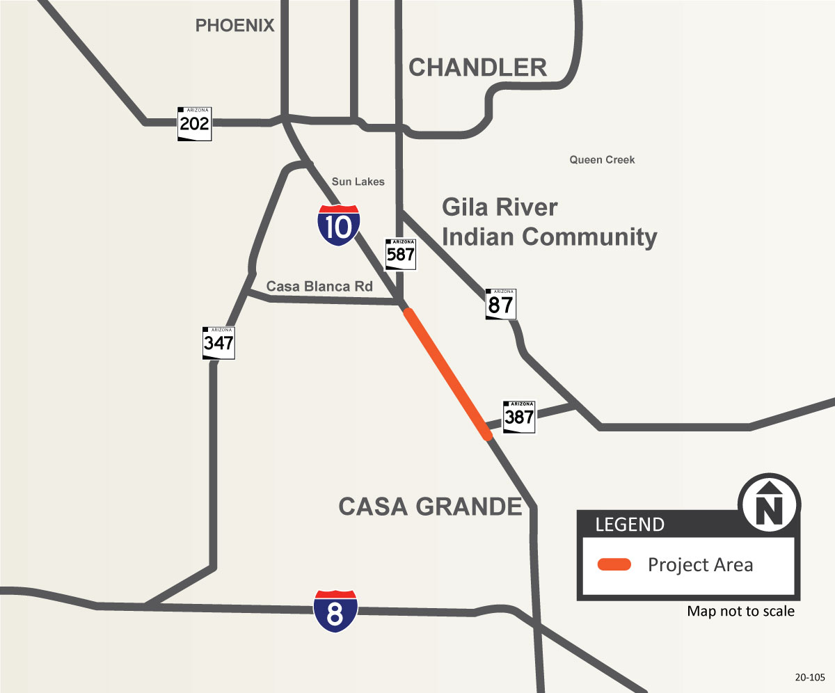 I-10 between 387 and SR 587 Project Map