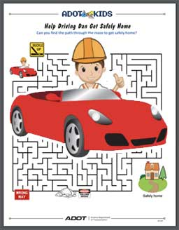 maze puzzle with Driving Dan