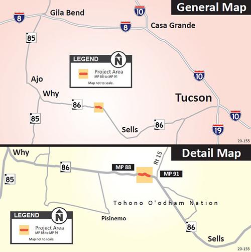 SR 86 Guardrail Project Map
