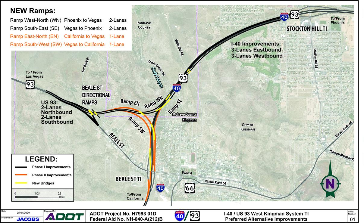 West Kingman Preferred Alternative Map