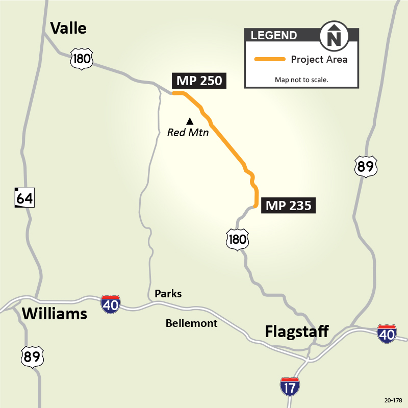 US 180 Flagstaff Project Map