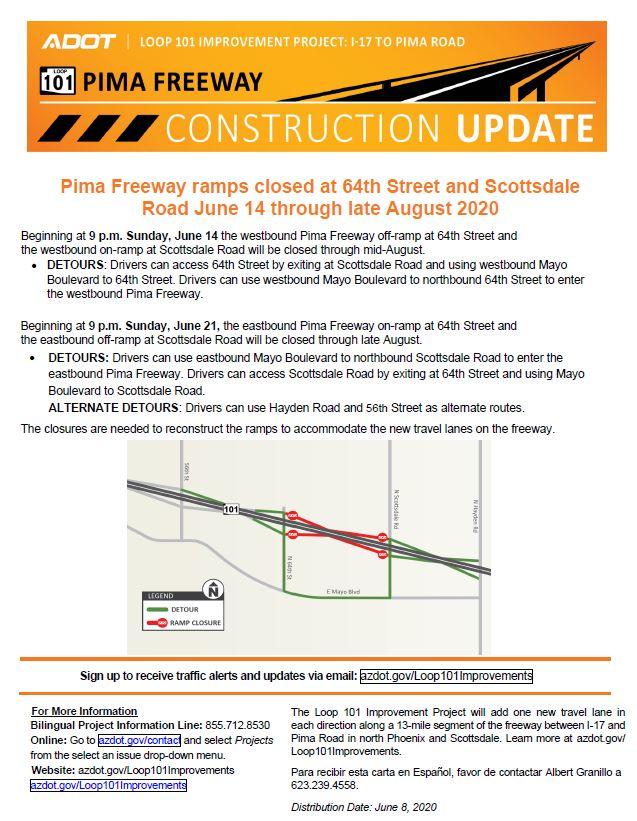 Loop 101 Pima Ramp closures