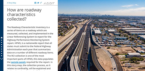 Roadway Characteristics Collection Story Map