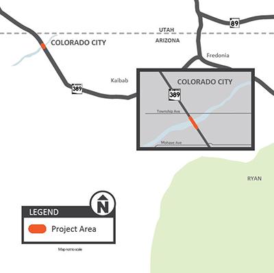 Short Creek Bridge Project Map
