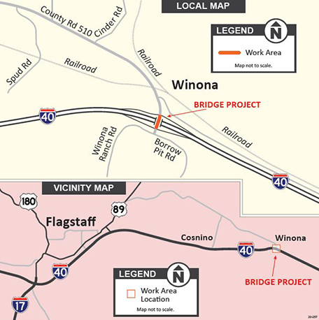I-40: Winona Bridge Rehabilitation Project Map