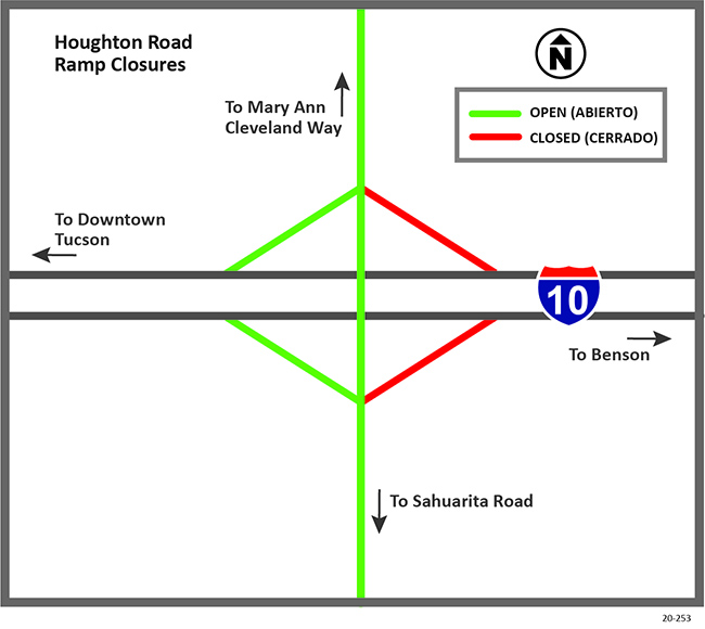 Houghton Ramp Closure Map