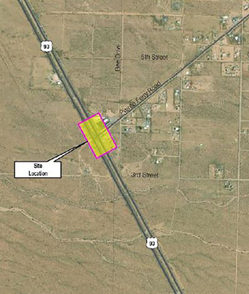 US 93 at Pierce Ferry Feasibility Map