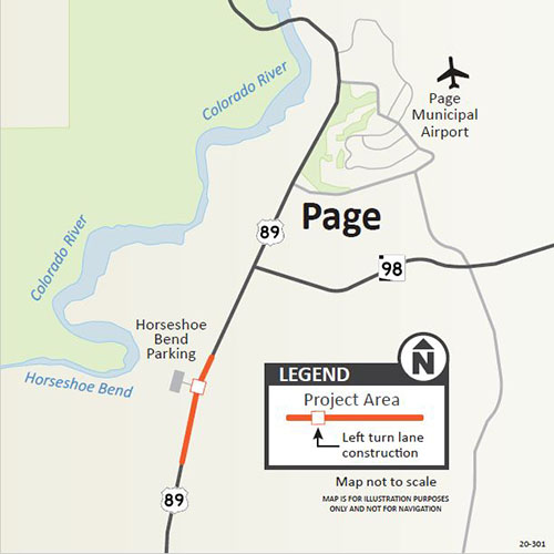 Us 89 Horseshoe Bend Project Map