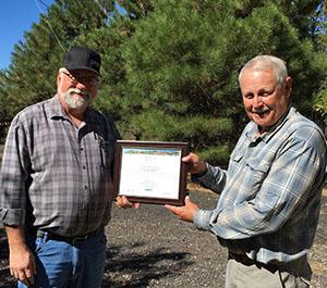 David Gregson Accepting a Spirit Award