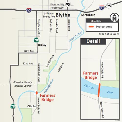 Farmers Bridge Rehabilitation Map