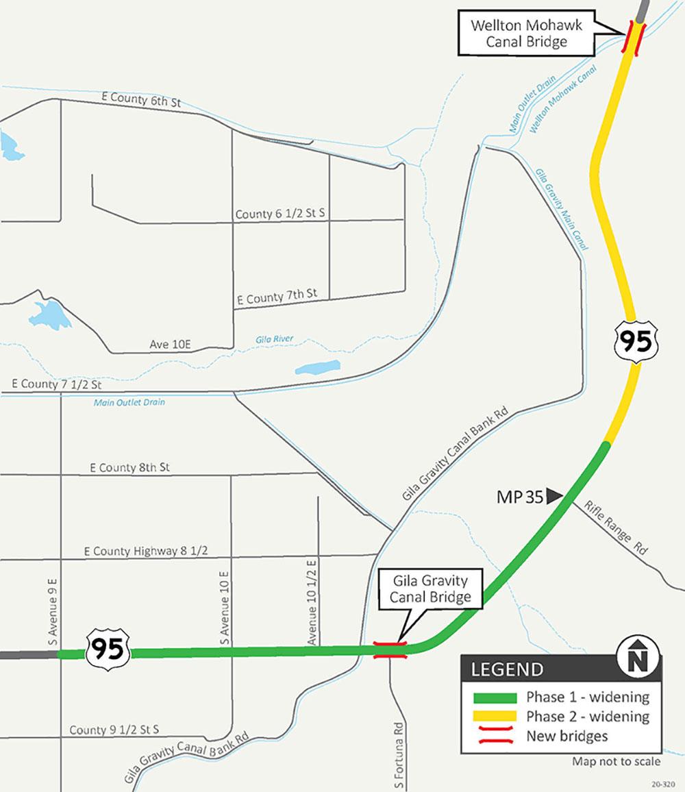 US95 Corridor Widening Map