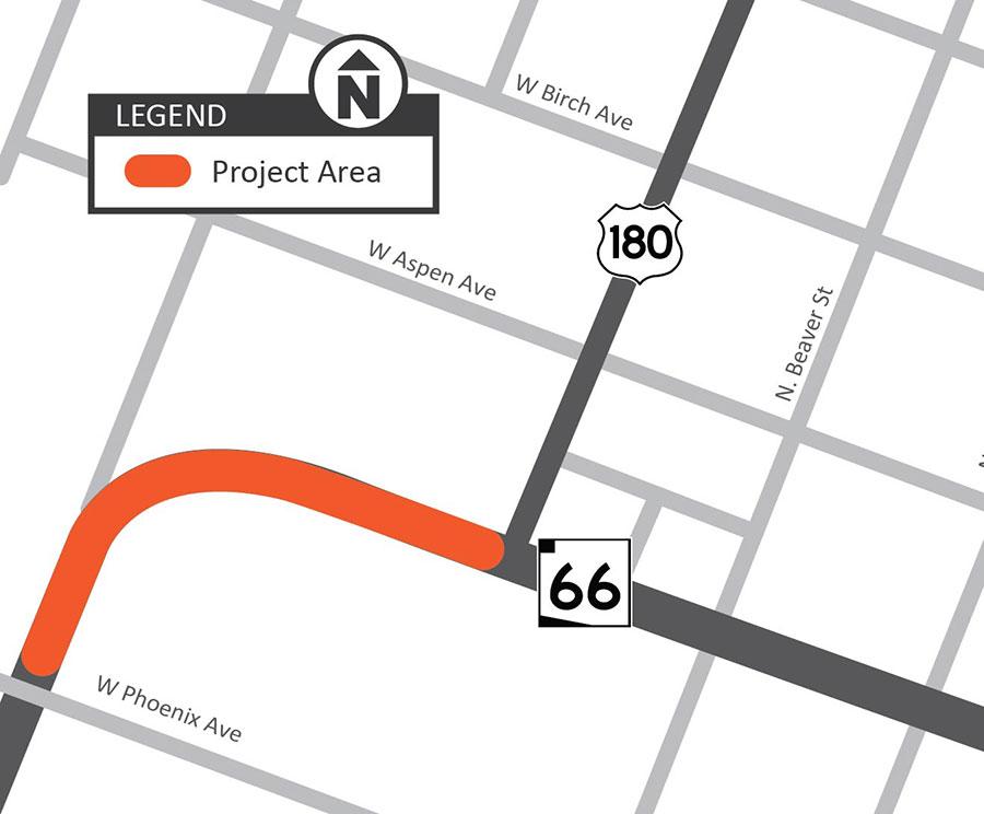 Rio de Flag Bridge Project Map