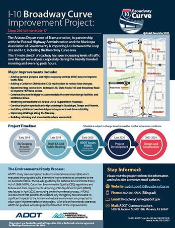 I10 Broadway Curve Project Flyer