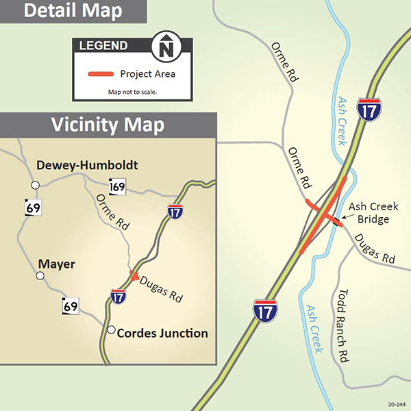 I-17 Dugas Rd Project Map