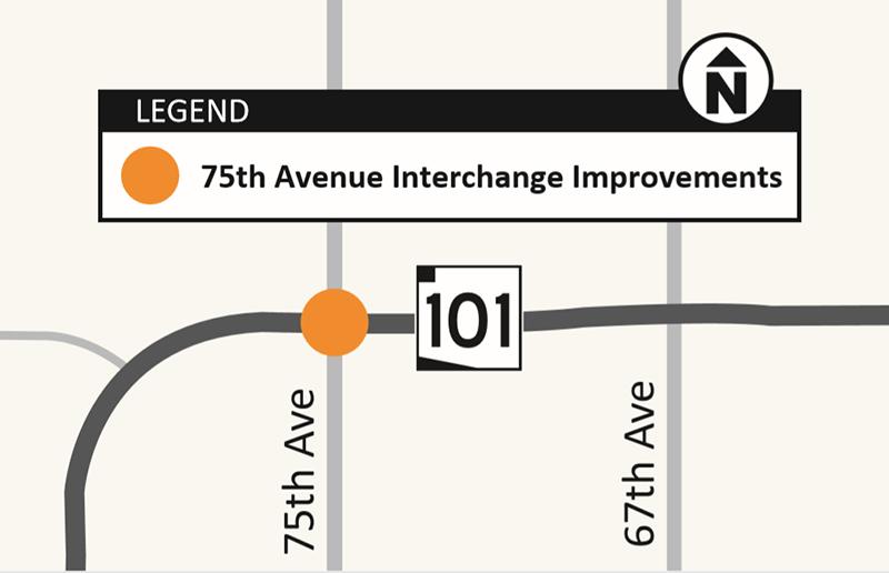 Loop 101 Agua Freeway Interchange Map