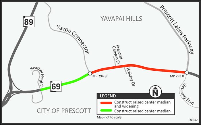 SR 69 Prescott Lake Map