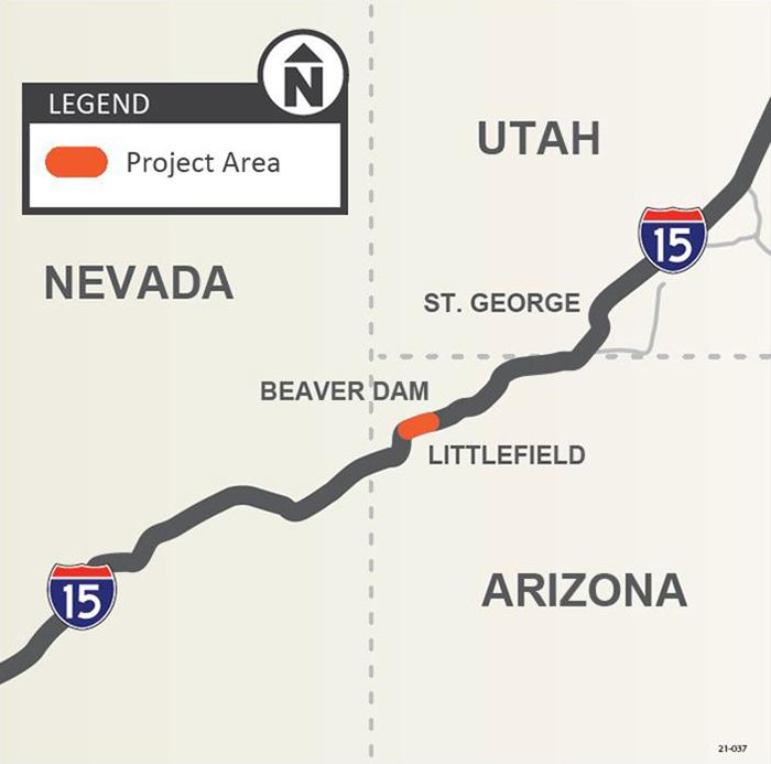 I-15 Virgin Bridge No1 Project Map
