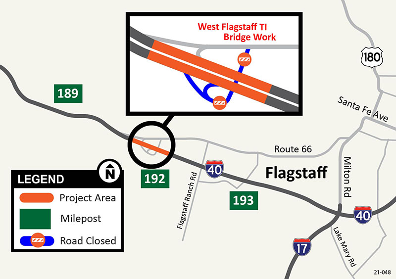 I-40 West Flagstaff Project Map